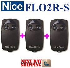 3 X Nice FLO2R-S télécommande 2-Canaux 433,92 MHz, Rolling code 433,92MHz!!!