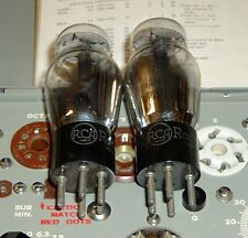 2 TUBES RCA Radiotron factory matched black plate 27 aka TV7 tested good