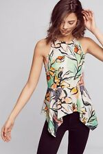 NWT Anthropologie Size 10 Petite HD in Paris Lucille floral peplum top