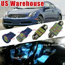11-pc Aqua Blue LED Light Interior Package Kit For 03-06 Infiniti G35 Sedan