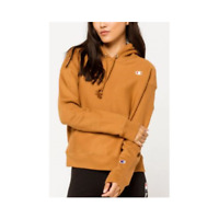 Champion Women's Reverse Weave Hoodie Brown Sepia - Large