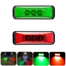 2X Oval Marine Boat Bow LED Navigation Lights Red/Green Stern Starboard Light sr