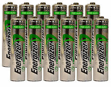 *NEW* 12x Energizer Rechargeable AAA 700 mAh NH12 NiMH 1.2v Battery USA SELLER