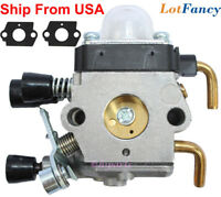 Carburetor kit Fit STIHL FS38 FS45 FS55 String Trimmer Weed Eater With 2 Gasket