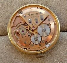 Gents Accurist watch movement for repair, calibre ETA 2409 21 jewels.