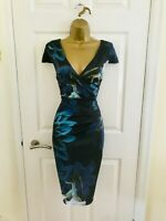 Dorothy Perkins Scarlet B Navy Floral Evening Party Midi Wiggle Occasion Dress