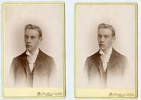 2 Cabinet Photo's - BENNETT Family Young Man - Toronto, Canada