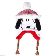 Peanuts Snoopy Santa Trapper Hat Kids Christmas Beanie Cap NWT