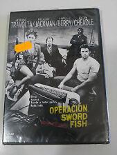 OPERACION SWORD FISH DVD + EXTRAS ESPAÑOL ENGLISH TRAVOLTA JACKMAN BERRY NUEVO