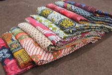10pcs Vintage Kantha Quilt Reversible Throw Handmade Indian Wholesale Lot