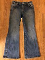 Vintage Y2k Tommy Hilfiger Women's Flare Denim Jeans Med Wash Size 4 Embellished