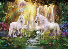 WATERFALL UNICORNS - 3D MOVING PICTURE 400mm x 300mm (NEW)