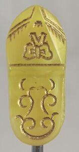 Modern Yellow Glass Moonglow Shoe Button