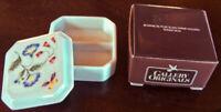 "Vntg. 1983 Avon Gallery ""BOTANICAL"" Japan - Porcelain Trinket/Jewelry Box -NEW!"
