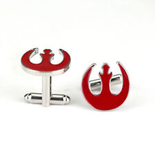 STAR WARS RED REBEL ALLIANCE ENAMEL DELUXE SILVERTONE CUFFLINKS