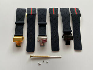 New Replacement for I Gucci digital YA114207 Rubber watch strap band witch clasp