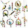 Pets Bird Parakeet Cockatiel Budgie Parrot Hanging Swing Rope Cage Training Toys