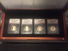 2013 S Presidential Dollar 4 Coin Proof Set ANACS PR70 DCAM Box & Case