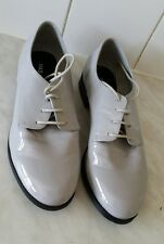 Lovely M&S Collection Glossy Neutral Patent Insolia Flex Shoes Size UK 8