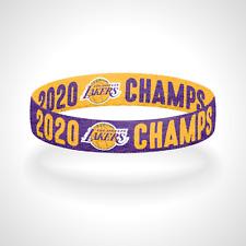 Reversible 2020 Champs Los Angeles Lakers Bracelet Wristband LA Lakers Champions