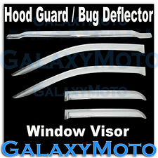 14-15 Chevy Silverado 1500 Chrome Bug Shield Deflector+Window Visor Shade Wind