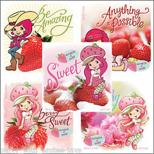 Strawberry Shortcake Stickers x 5 - Birthday Party Supplies - Scented Favours