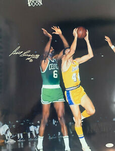 Bill Russell Signed 16x20 Autographed Celtics Photo VS Jerrry West Jsa coa