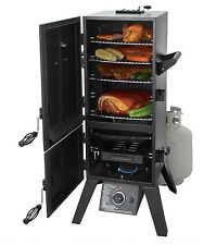 Grills And Smokers Propane Gas Meat BBQ Box Double 2 Door Vertical Grilling New