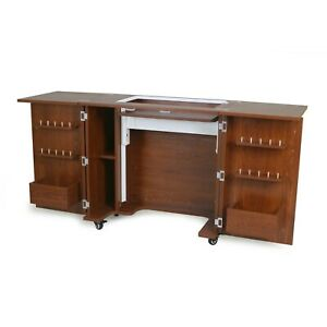 Kangaroo Bandicoot II Teak Sewing Cabinet Table w/ Lift Mechanism K8205