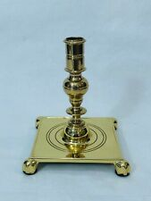 "Baldwin Brass Square Base, Williamsburg Style Candlestick, Claw Feet, 6 3/4"" T"