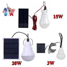 New LED Power Solar Lamp Tent Energy Light Panel Yard Portable Camping Bulb USA