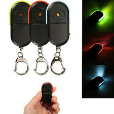 Wireless Anti Lost Alarm Key Finder Locator Keychain Whistle Sound LED Light