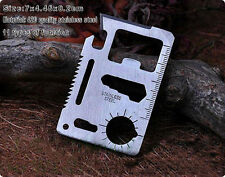 11-in-1 Pocket  Knife  Card Outdoor Survival Tools Camping Military Kits Silver