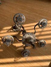 Antique ISCO Art Deco Art 5 Light Chandelier