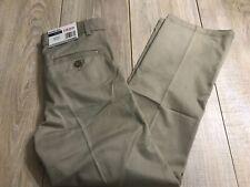 4 Izod School Uniform Boys Casual Pants Size 16 Reg Khaki Front Pleat Adj Waist
