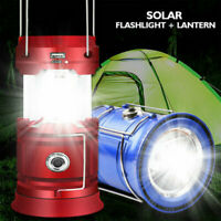 85000LM Solar LED Flashlight Camping Lantern USB Chargeable Emergency Lamp Torch
