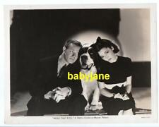 Maureen O'Sullivan Dennis O'Keefe Vintage 8X10 Photo W/ St. Bernard Dog 1938 Mgm