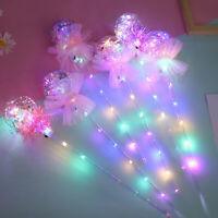 1-10PCS Light-Up Princess Wand Fairy LED Scepter Magic Heart Stick Flashing Toys