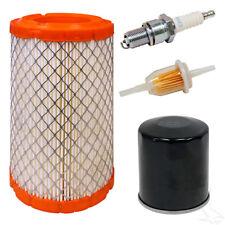 Club Car Precedent Gas Golf Cart Tune Up Kit - Air Fuel Oil Filters & Spark Plug