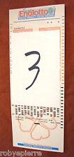 Scontrino biglietto matrice di giocata super ENALOTTO 8 numeri 28 combinazioni 3