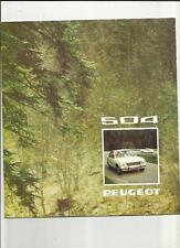 PEUGEOT 504 SALOONS - L, GL, AND TI  SALES  BROCHURE 1974