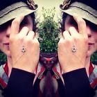 Sterling Silver Star of David Finger-bracelet/slave-bra celet. Unique  stylish