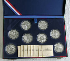 FRANCE 1998 8 x 10 Franc Coupe du monde de football Silver Proof Set-Coffret/COA