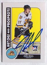 Jamie Arniel Sarnia Sting 2008-09 In The Game Heroes & Legends Signed Card