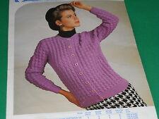 Ladies  Cardigan  size 29-43  knitting pattern