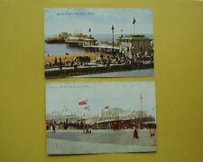 Brighton Palace & West Pier Vintage Postcards Celesque F-47105 & 48720