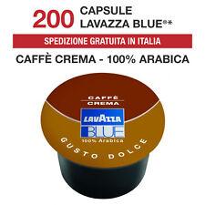 200 Capsule Cialde Caffè Lavazza Blue Blu Caffè Crema Gusto Dolce Originali