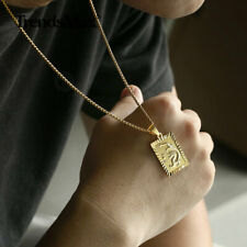 14K Gold Filled Chinese Dragon Pendant Necklace Link Chain Choker for Men Boys