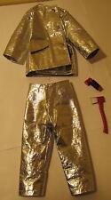 1960s GI Joe Crash Suit, Red Fire Axe and Flashlight for Action Pilot Crash Crew