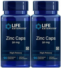 LIFE EXTENSION ZINC CAPS VIRUS COLD FLU IMMUNE HEALTH 90 cap x 2